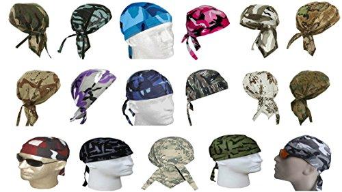 Camouflage Doo Do Rag Assorted Lot Camo Bandana Headwrap Skull Cap