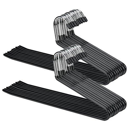 Open Ended Pants Hangers 20 Pack-Strong and Durable Easy-Slide Jeans Slacks Etc