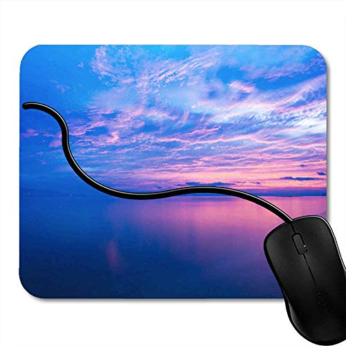 Gaming Mouse Pad Genetic 3D Render of Medical with DNA Strand Human Life Antivirus Bacteria Office Computer Accessories Nonslip Rubber Backing Mousepad Mouse Mat 2F2230
