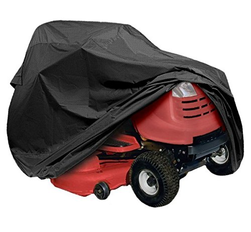 Elevavie Lawn Tractor Cover, Ride On Lawn Mower Cover Waterproof UV Resistant Oxford Fabric with Drawstring (177 x 110x 110cm/70x43x43 inches)
