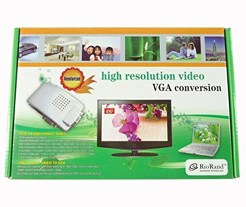 RioRand Video Converters Cctv Camera Bnc S-Video Vga To Laptop Computer Pc Monitor Converter Adapter Box by RioRand (Image #5)