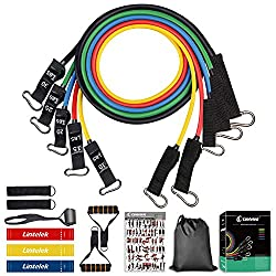 Why Choose Lintelek Resistance Tube Bands?  Five color-coded tube bands, which are made of high-quality and eco-friendly latex, can be used alone or stacked in any combination up to a maximum equivalent of 100 lbs. Each band is 1.2m lon...