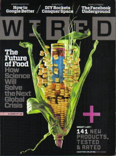 WIRED MAGAZINE (November 2008) Featurning: THE FUTURE OF FOOD + 141 PRODUCTS TESTED & RATED