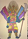 SAMURAI - original signed drawing - acrilic on handmade paper inspired by Terry Gilliam's BRAZIL