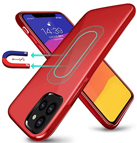 Magnetic Case for iPhone 11 Pro Max 2019,[Invisible Built-in Metal Plate] Ultra Thin Support Magnetic Car Mount,Soft TPU Shockproof Anti-Scratch 360 Protective Cover for iPhone 11 Pro Max 6.5