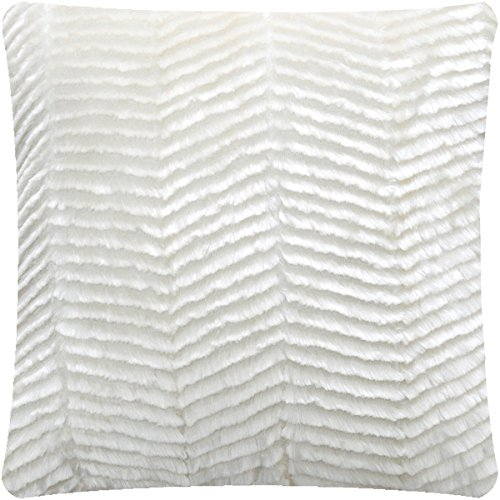 cheap decorative throw pillows for couch kohls contemporary fur plush pillow best quality fuzzy accent cushion cover square inch chevro