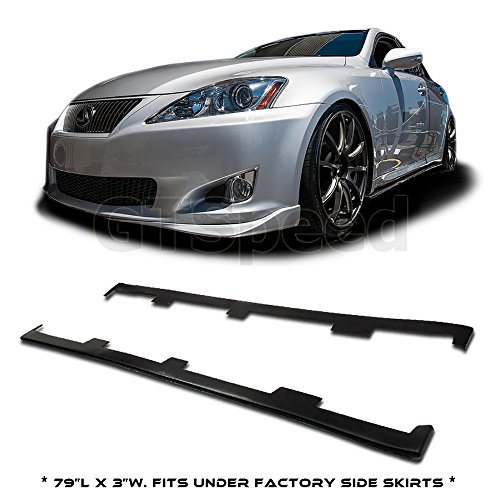 Speed Skirts Side (GT-Speed made for 06-13 Lexus IS250 IS350 PU Side Skirt Sideskirts Extension Add-on Lip (May fit on other vehicle/Measure before purchase: 79