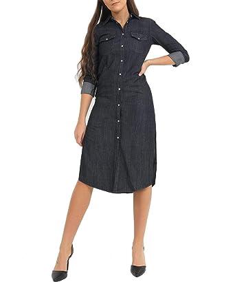 0fa11599ca9 SS7 Womens Size 6-14 Longline Denim Shirt Dress