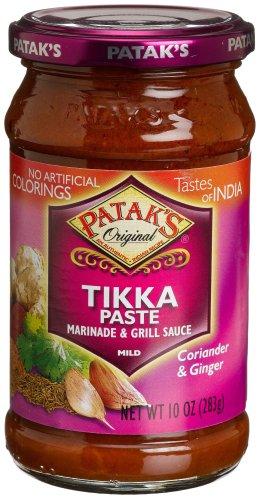 Patak's Tikka Paste,Coriander & Ginger, Mild, 10-Ounce Glass Jars (Pack of 6)