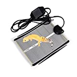 reptile heating - Reptile Heating Pad,Vipe Reptile Heat Mat Under Tank Heating Pad US Plug 110V Reptile Tank Warmer with Temperature Controller (5.9