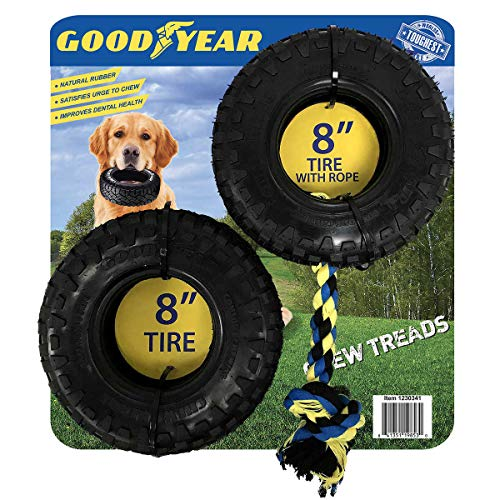 .Goodyear. 8-inch Tread Tire Dog Chew Toys, Pack Includes 1 8