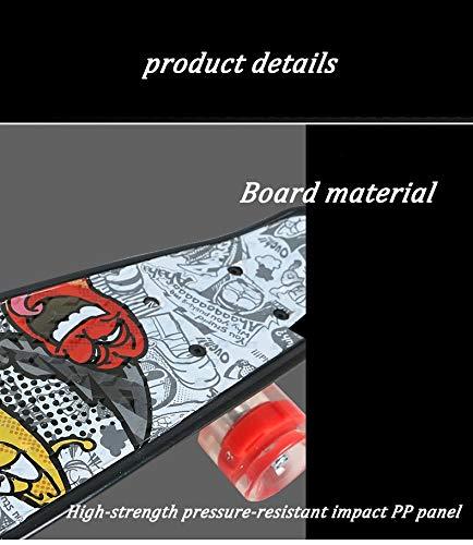 Skateboard Mit Vier Rädern MiniFischbrett Erwachsene Anfänger Vitality Board Board Board Männer Und Frauen Single Axe Road Plate Flash Rad B07PZTL8ZH Skateboards Einfach afd1df