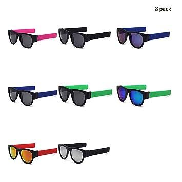 Slapsee lunettes de soleil pliantes lunettes polarisantes lunettes  commodément plier et clip sur le poignet  0322420cd758