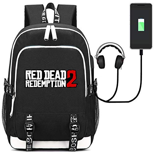 Sjymkyc Usb Mochila Bag School Charging A Redemption De 2 Red Bolsa Dead Hombro Estudiante rPqrI