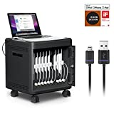 MultiCharger-X by iLuv (Expandable Charge/Sync/Security Solution Up to 10 iPads ideal for Offices, Schools, Restaurants, Hospitals) Compatible with All Apple iPads (Includes 10 Lightning Cables)