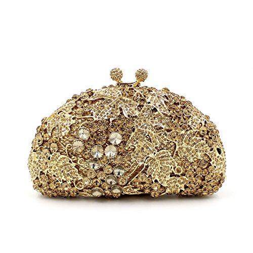 B Sac de à Strass soirée sac cadre Luxe métallique Mariage De main main femme à d'embrayage Fav sac Chers UAAqHwgWc