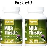 Jarrow Formulas Milk Thistle (Silymarin Marianum), Promotes Liver Health, 150 mg per Capsule, 400 Veggie Capsules