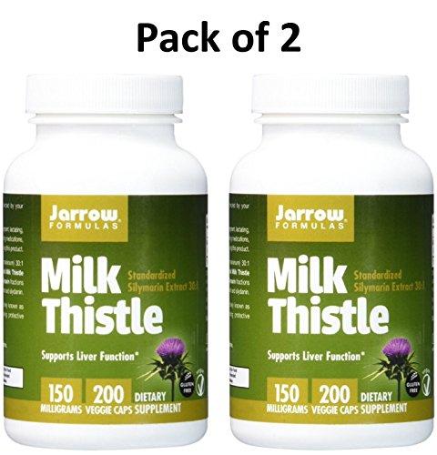 Jarrow Formulas Milk Thistle (Silymarin Marianum), Promotes Liver Health, 150 mg per Capsule, 400 Veggie Capsules by Jarrow Formulas