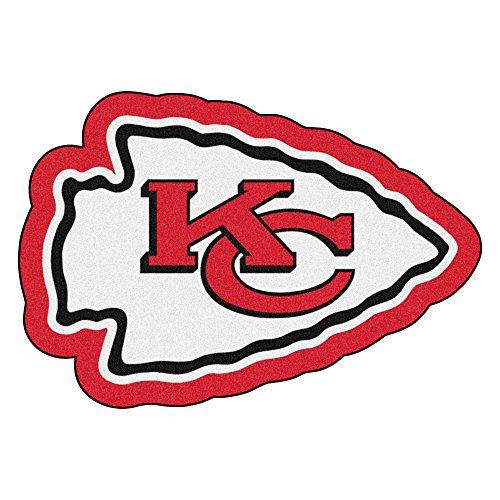 NFL Kansas City Chiefs Mascot Novelty Logo Shaped Area Rug