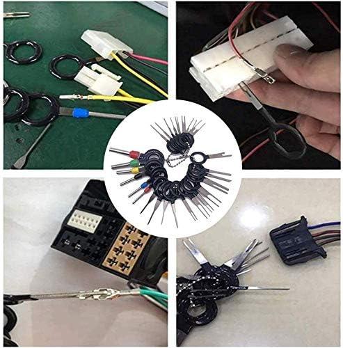 Lefeindgdi Kit di attrezzi per la rimozione dei terminali auto estrattore per la riparazione kit di espulsione per terminali estrattore per il rilascio dei perni