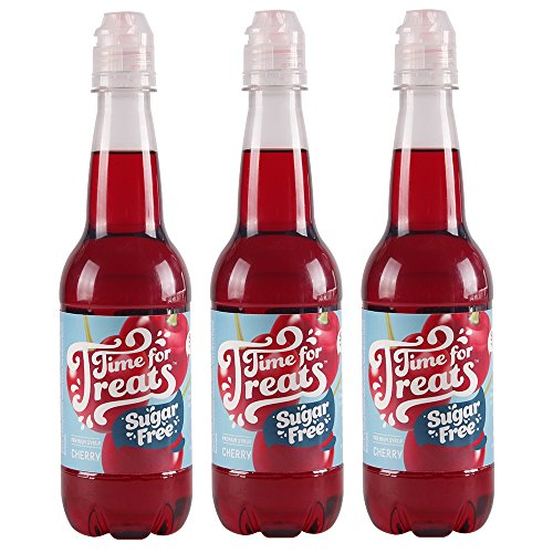 Pack of 3 Victorio Time for Treats Snow Cone Syrups 16.9oz Made in USA (Sugar Free Cherry) (Sugar Free Syrup Snow Cone)
