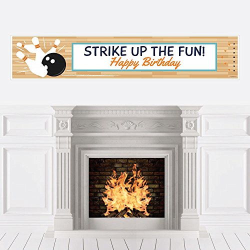 Big Dot of Happiness Strike Up The Fun - Bowling - Birthday Party Decorations Party Banner ()