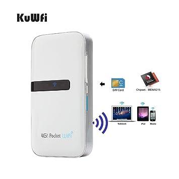 KuWFi 4G Lte Pocket WiFi Router desbloqueado LTE 4G Mobile ...