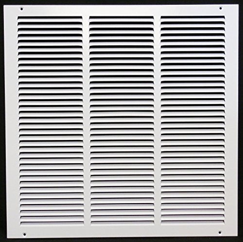 """22"""" x 16"""" Return Air Grille - Sidewall and Cieling - HVAC Vent Duct Cover Diffuser - [White] [Outer Dimensions: 23.75w X 17.75""""h]"""