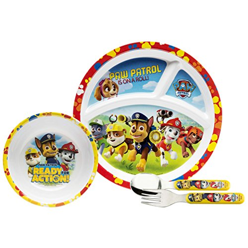Paw Patrol Pwpd-3870-b Flatware Sets 4-piece, Chase, Skye, Marshall & The Gang