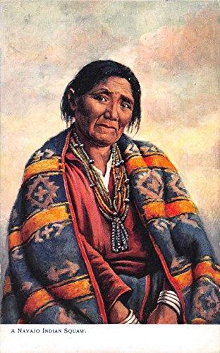 Navajo Indian Squaw Native Americana Tuck Oilette Antique Postcard J68522