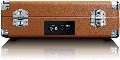 Tocadiscos LENCO TT-10BN Color Marrón, Retro, 3 velocidades