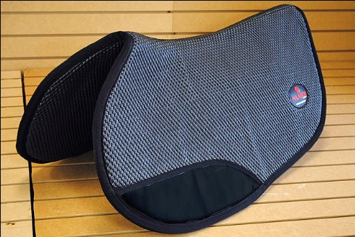HILASON 32X33 BLACK CONTOURED GAITED HORSE SADDLE PAD ANTI SLIP MADE IN USA