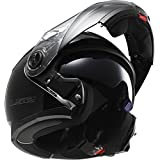 LS2 Helmets Strobe Solid Modular Motorcycle Helmet with Sunshield (Black, Medium)