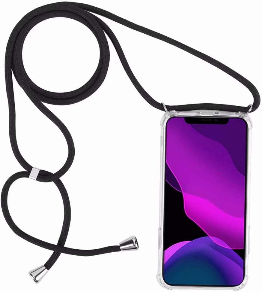 2ndSpring Coque avec Collier Compatible avec Samsung Galaxy A6 2018,Tour de Cou Lani/ère en Corde Pendentif Housse,Rouge