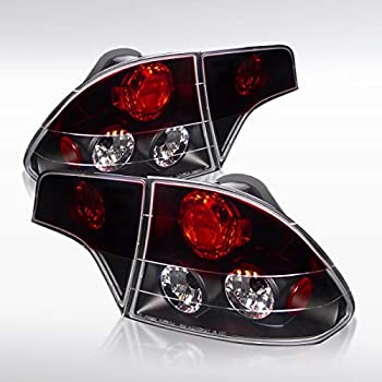 Spec-D Tuning LT-CV064BB-TM Honda Civic 4Dr Smoke Lens Glossy Black Altezza Tail Rear Lights