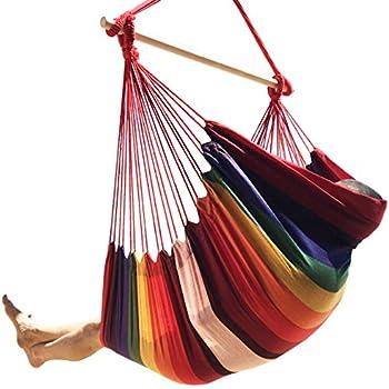 Amazon Com Sorbus Hanging Rope Hammock Chair Swing Seat