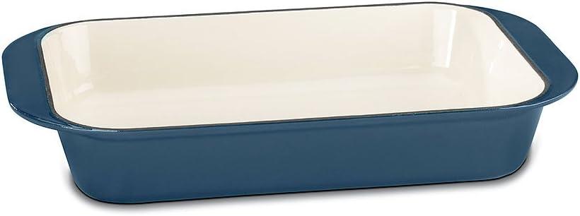 """صينية تحمير من حديد الزهر CI1136-24BG من Cuisinart CI14""""، لون أزرق بروفشنال مطلي بالمينا"""