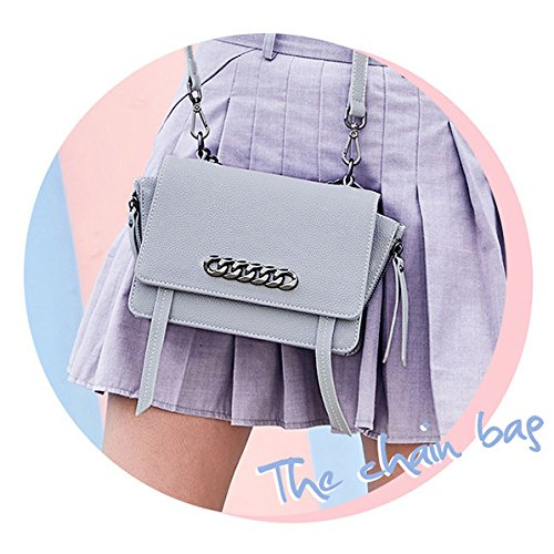 Small Women Clutch Shoulder Bag Body Creative Bag Chain Classic Handbag Gray Cross Evening Mini qZFqwS