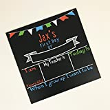 Personalized First Day of School Chalkboard-''Boy'' Colors