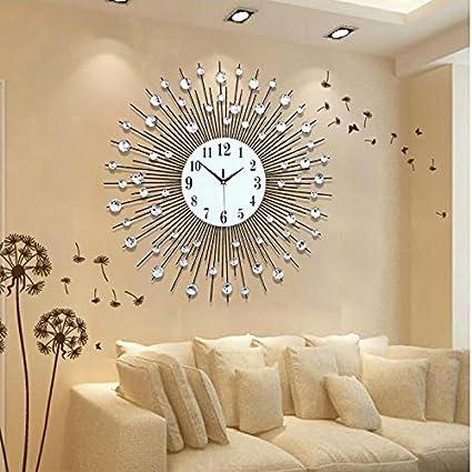 ZHUNSHI Personalidad Europea ronda el salón de artes reloj Relojes de pared Reloj de pared grande