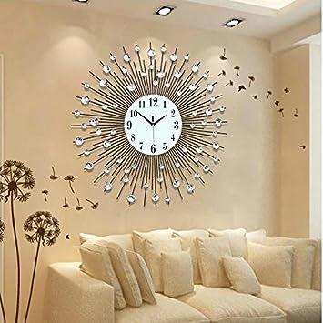 ZHUNSHI Personalidad Europea Ronda el salón de Artes Reloj Relojes de Pared Reloj de Pared Grande Modernas Decoraciones murales,20 Pulgadas,60 cm.