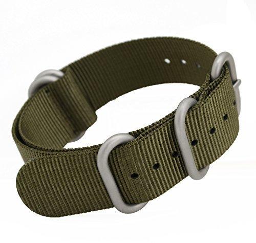 2 opinioni per metastrap NFC 22mm Cinturino in nylon Zulu cinturino (Verde Militare)