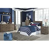 Ashley Furniture Signature Design - Javarin Youth Twin Panel Headboard - Childrens Contemporary Bedset - Component Piece - Grayish Brown