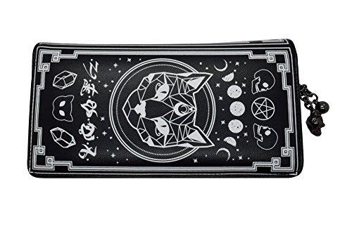 Pentagram Wallet (Banned Apparel Spellbinder Cat Gothic New Age Symbols Star Wiccan Black Wallet)