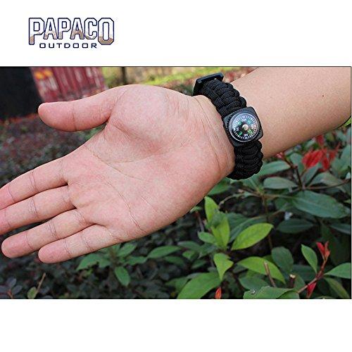 ROADTEC Outdoor Emergency Survival Bracelet Pointing Guide Bracelet, Compass for Hiking (Black)