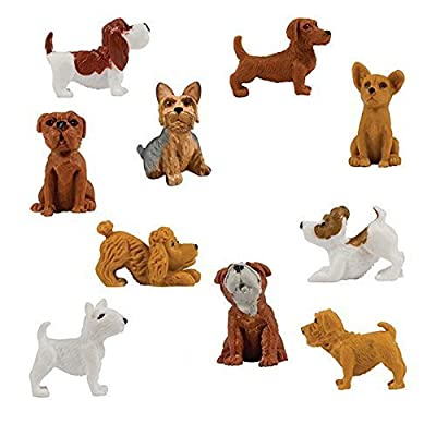 Adopt a Puppy Figures - Small Plastic Party Favors - 20 count: Toys & Games