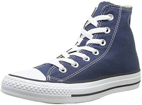 Converse Unisex Chuck Taylor All Star Hi Top Sneaker Shoes Navy Blue (Navy, 5.5 D(M) US)