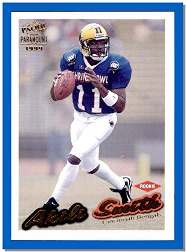 1999 Pacific Football Card Paramount Gold  56 Akili Smith Oregon Ducks Cincinnati Bengals