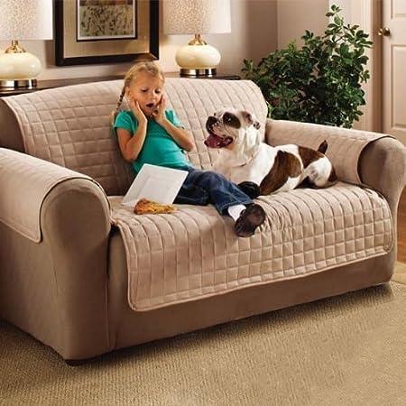 3 Seater Sofa Protector Beige 68u0026quot; X 70.5u0026quot; ...