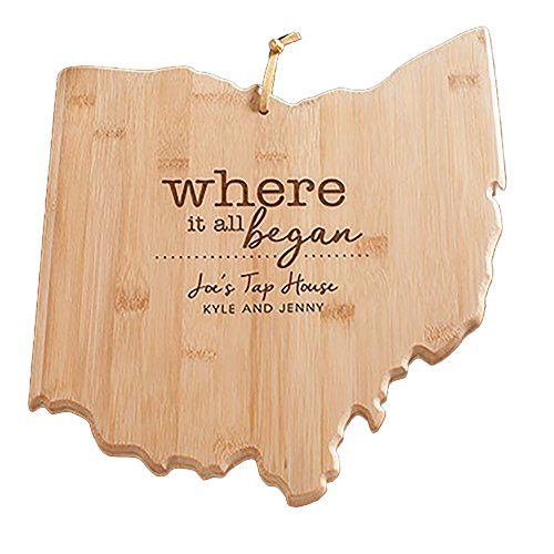 Engraved Where It All Began Ohio State Cutting Board, Bamboo, Personalized